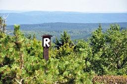 Rennsteig-Schild am Großen Inselsberg
