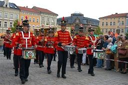 Musikanten beim Hütesfest in Meiningen