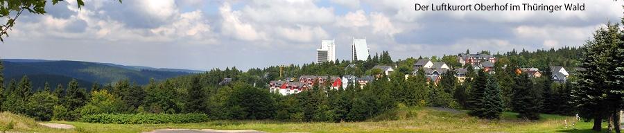 Der Luftkurort Oberhof im Thüringer Wald