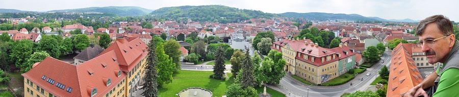 Arnstadt, Blick vom Neideckturm